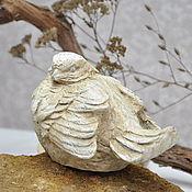 Для дома и интерьера handmade. Livemaster - original item Bird figurine made of concrete decor Provence Shabby-chic Country. Handmade.