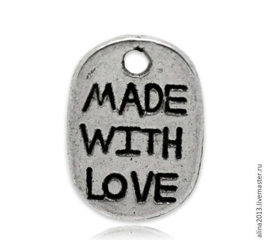 подвеска металлическая Made with love