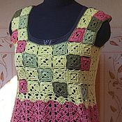 Одежда ручной работы. Ярмарка Мастеров - ручная работа Платье-туника, крючком Летний бриз. Handmade.