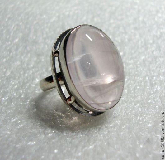 Кольца ручной работы. Ярмарка Мастеров - ручная работа. Купить Кольцо с розовым кварцем 12.. Handmade. Кольцо с розовым кварцем