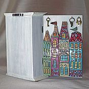 """Шкатулки ручной работы. Ярмарка Мастеров - ручная работа Ключница """"Голландские домики"""". Handmade."""