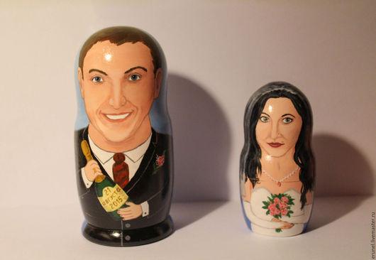 Подарки на свадьбу ручной работы. Ярмарка Мастеров - ручная работа. Купить Портретные матрешки на свадьбу. Handmade. Комбинированный, портретная матрёшка