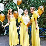 Платья для подружек невесты жёлтые