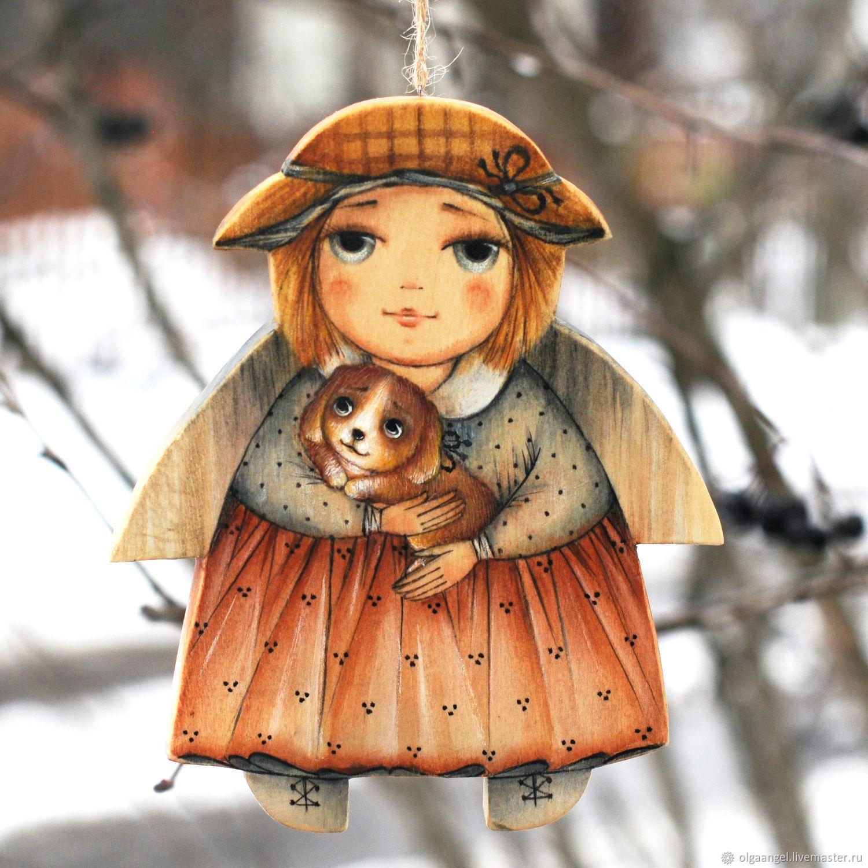 Ангел. Девочка с собачкой, Игрушки, Сергиев Посад, Фото №1