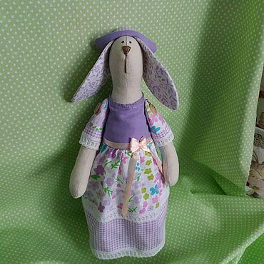 Куклы и игрушки ручной работы. Ярмарка Мастеров - ручная работа Зайка в нарядном платье в стиле Тильда. Handmade.