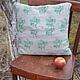 Текстиль, ковры ручной работы. Диванная подушка -Лесная сказка. Ÿkka. Ярмарка Мастеров. Вязаная спицами, подарок