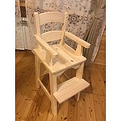 Стулья ручной работы. Ярмарка Мастеров - ручная работа Высокий детский стул АннаlI с большой регулируемой подножкой. Handmade.