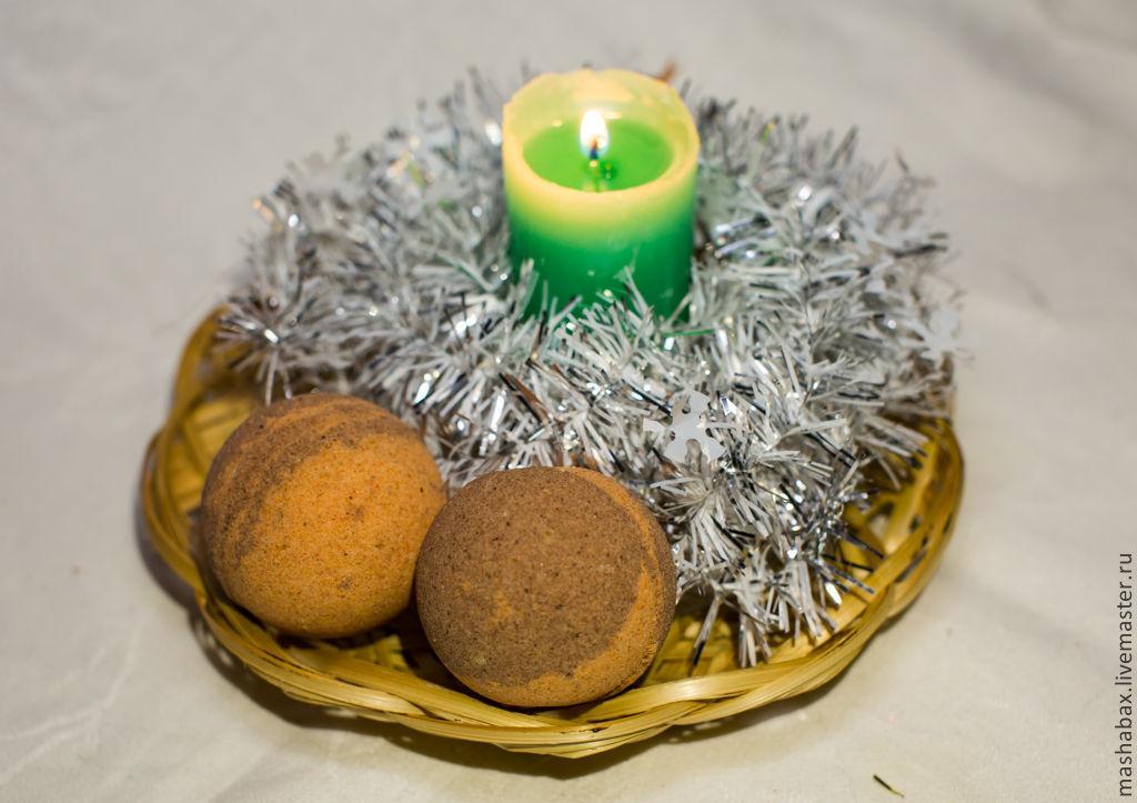 Бомбочка для ванны Апельсин-корица, Бомбочки для ванны, Краснодар, Фото №1