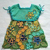 Платья ручной работы. Ярмарка Мастеров - ручная работа Платье крючком для девочки. Handmade.