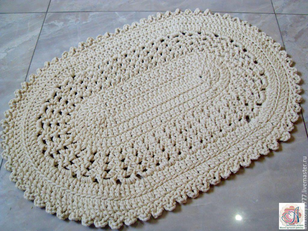 Вязание ковров из шнура спицами 95