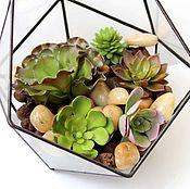 Цветы и флористика handmade. Livemaster - original item The Floriana with artificial succulents. Artificial plants. Handmade.