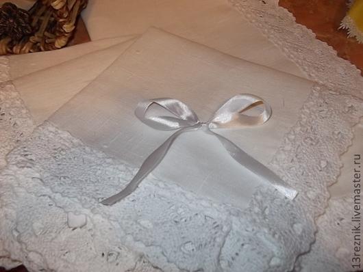 Текстиль, ковры ручной работы. Ярмарка Мастеров - ручная работа. Купить Салфетки льняные.Белые.. Handmade. Белый, льняные салфетки