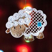 Подарки к праздникам handmade. Livemaster - original item Sheep. A set of Christmas ornaments.. Handmade.