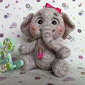 """Куклы и игрушки ручной работы. Ярмарка Мастеров - ручная работа Игрушка валяная слоник """"Капа"""". Handmade."""