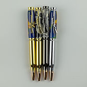 Канцелярские товары handmade. Livemaster - original item Ballpoint pen Gun with rotary mechanism. Handmade.