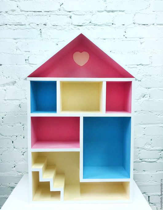 Кукольный дом ручной работы. Ярмарка Мастеров - ручная работа. Купить Домик полка. Handmade. Розовый, кукольный домик купить