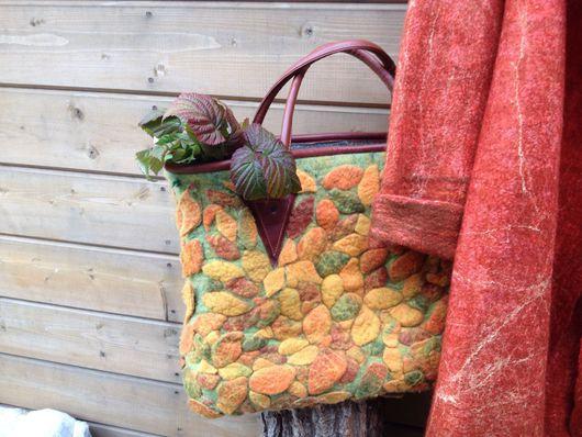 Женские сумки ручной работы. Ярмарка Мастеров - ручная работа. Купить Войлочная сумка Осенний листопад. Handmade. Сумка валяная