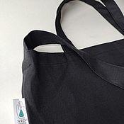 Сумка-шоппер ручной работы. Ярмарка Мастеров - ручная работа Сумка для продуктов из хлопка черная. Handmade.