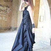 Одежда ручной работы. Ярмарка Мастеров - ручная работа Длинное платье, Черное платье, Льняное платье, ЕУГ. Handmade.