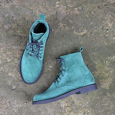 Обувь ручной работы. Ярмарка Мастеров - ручная работа Ботинки женские замшевые. Handmade.