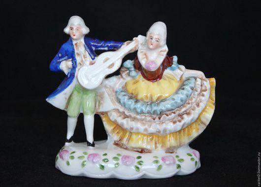 Винтажные предметы интерьера. Ярмарка Мастеров - ручная работа. Купить Пара девушка кавалер статуэтка Германия 25. Handmade. Разноцветный
