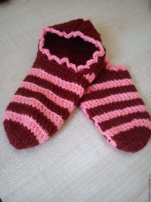 Детская обувь ручной работы. Ярмарка Мастеров - ручная работа. Купить Тапочки-следки домашние детские. Handmade. Тапочки домашние