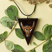 "Украшения handmade. Livemaster - original item Кулон ""Чертёнок"" из двух пород дерева. Handmade."