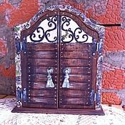 """Для дома и интерьера ручной работы. Ярмарка Мастеров - ручная работа деревянная ключница """"Тайны старого замка"""". Handmade."""