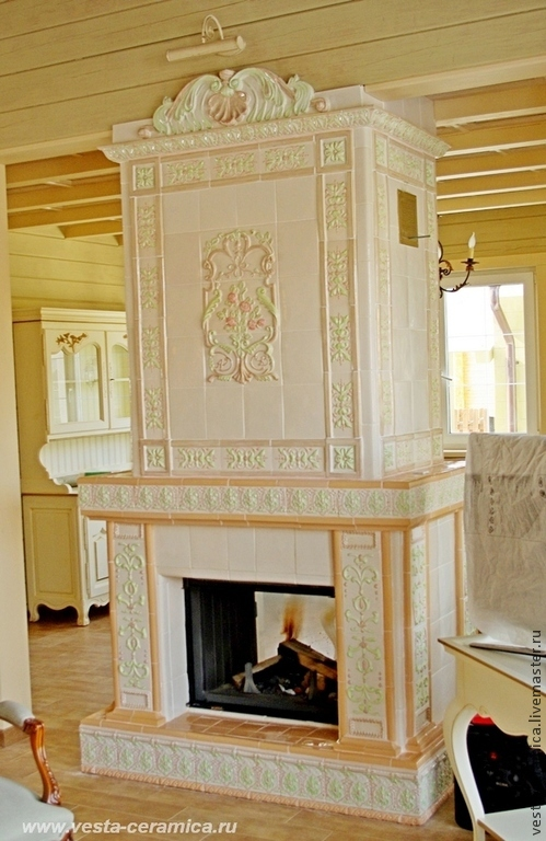 Tiled 'Sugar' fireplace, Fireplaces, Moscow,  Фото №1