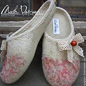"""Обувь ручной работы. Ярмарка Мастеров - ручная работа Валяные тапочки """" Винтаж """". Handmade."""