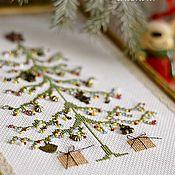 Подарки к праздникам handmade. Livemaster - original item TREE embroidery with beads. Handmade.