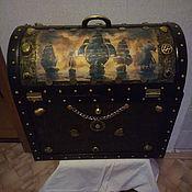 Ящики ручной работы. Ярмарка Мастеров - ручная работа Ящики: Сундук капитана пиратов. Handmade.
