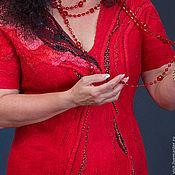 """Одежда ручной работы. Ярмарка Мастеров - ручная работа Платье валяное """"Огненный танец"""". Handmade."""