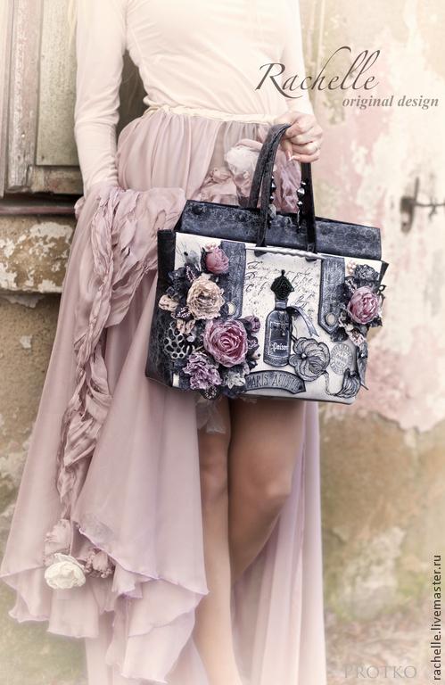 Женские сумки ручной работы. Ярмарка Мастеров - ручная работа. Купить Запыленные временем. Handmade. Серый, натуральная кожа