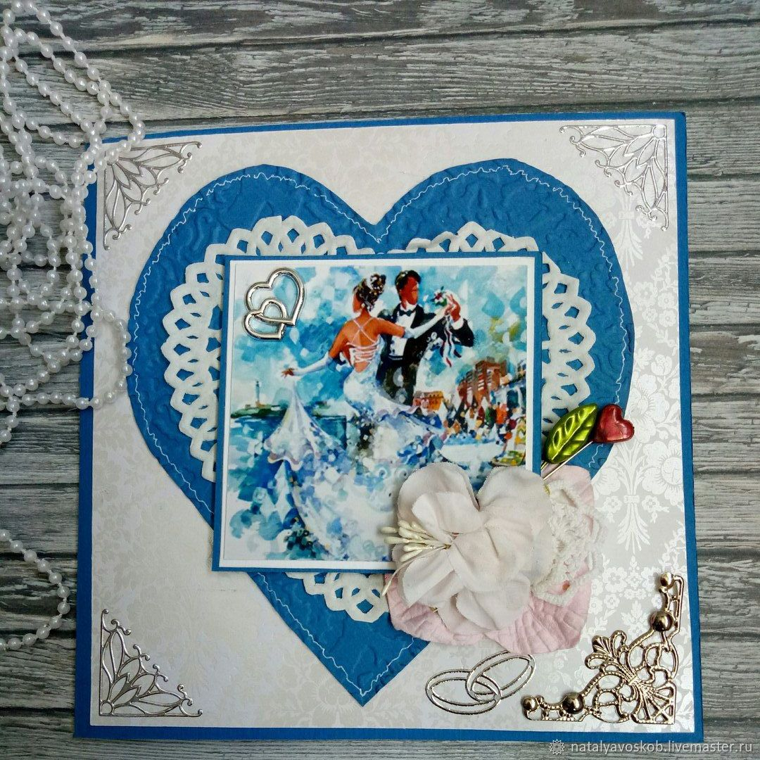 Свадебные открытки с кармашком для денег 15