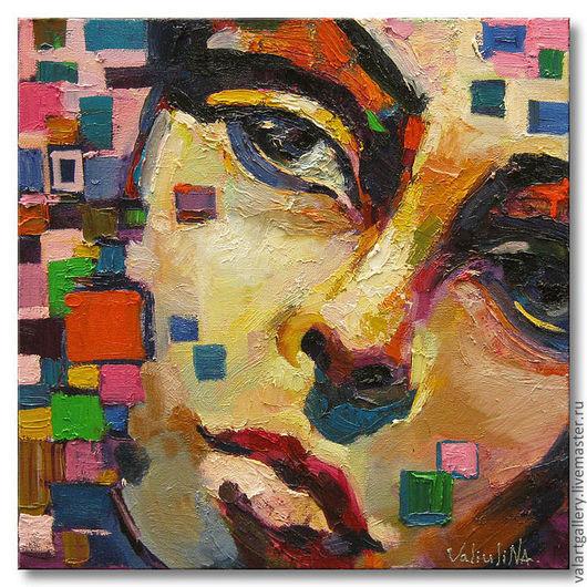 """Люди, ручной работы. Ярмарка Мастеров - ручная работа. Купить Портрет маслом на холсте """"Лицо девушки"""" Современный стиль. Handmade."""