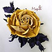 Украшения ручной работы. Ярмарка Мастеров - ручная работа Брошь роза желтая. Handmade.