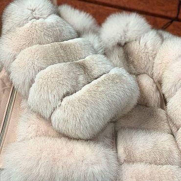 Одежда ручной работы. Ярмарка Мастеров - ручная работа Пудровая шуба из песца. Handmade.