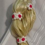 """Украшения ручной работы. Ярмарка Мастеров - ручная работа Комплект украшений для волос """"Клюква в сахаре""""(2 заколки, 2 резинки). Handmade."""