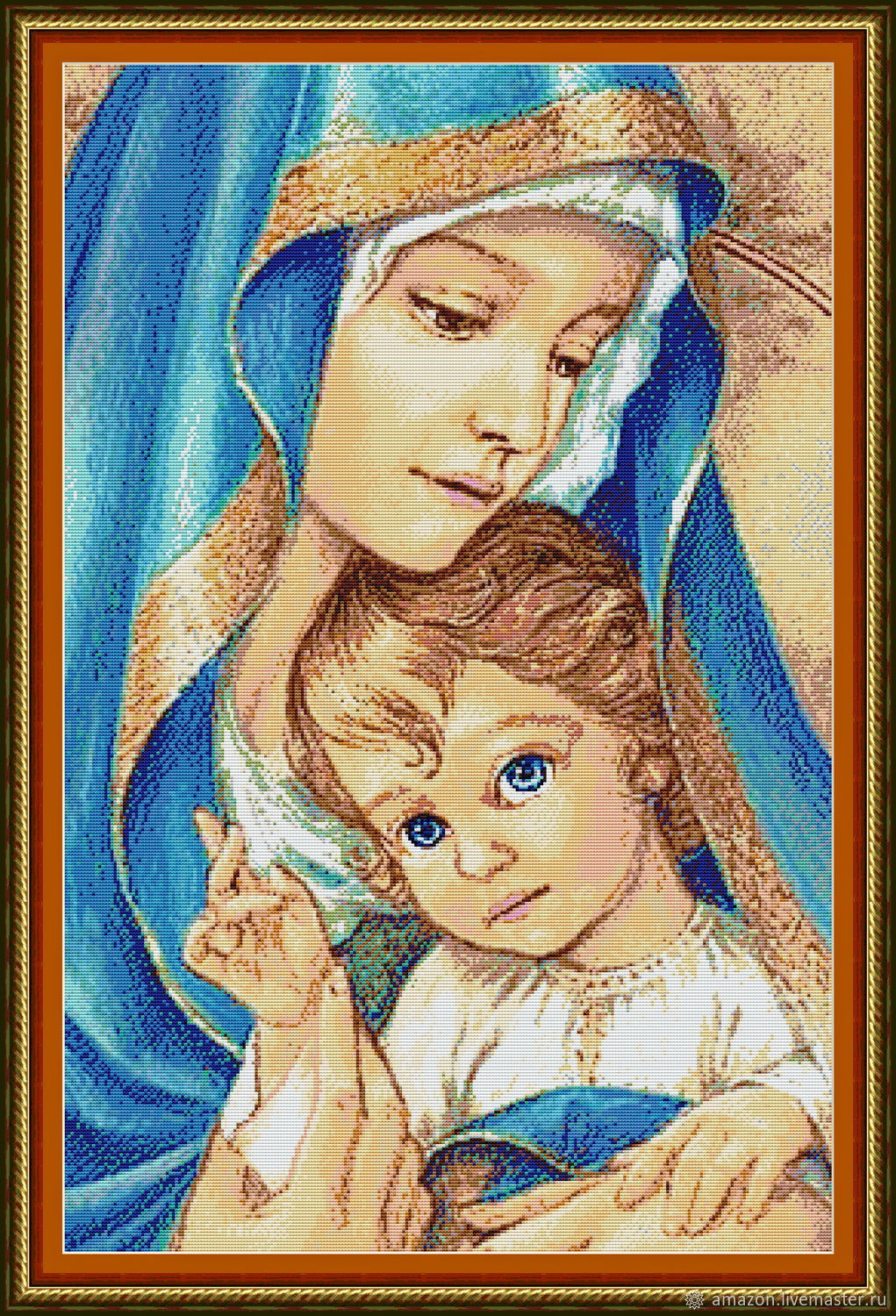 Kit embroidery with beads 'the virgin and child', Embroidery kits, Ufa,  Фото №1