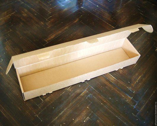 коробка `Простая-17` 79х17х10см  длинная узкая крафт картонная
