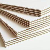 Материалы для творчества ручной работы. Ярмарка Мастеров - ручная работа Блок для блокнота А5 белый+крафт. Handmade.
