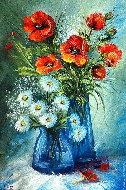 Картины цветов ручной работы. Ярмарка Мастеров - ручная работа. Купить Разбросало лето краски... Handmade. Комбинированный, лето, цветы