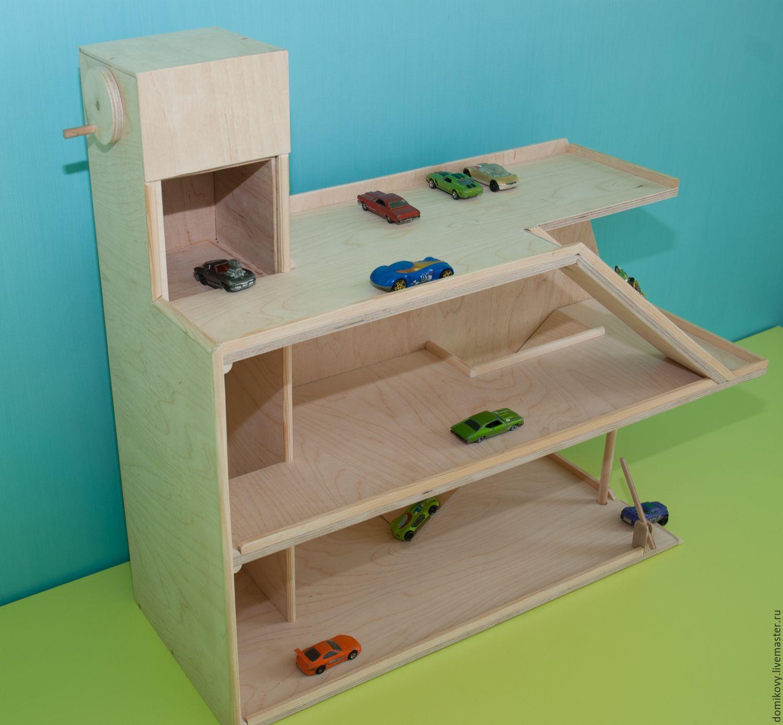 Парковка для машинок из картонной коробки: Поделки