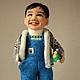Портретные куклы ручной работы. Ярмарка Мастеров - ручная работа. Купить портретная кукла мальчик Хо. Handmade. Синий, каркас