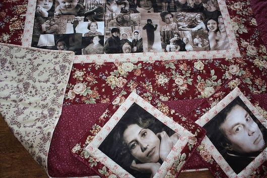 """Персональные подарки ручной работы. Ярмарка Мастеров - ручная работа. Купить """"Ретро стиль"""". Handmade. Лоскутное одеяло, покрывало с фото"""