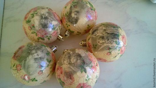 """Новый год 2017 ручной работы. Ярмарка Мастеров - ручная работа. Купить шары новогодние """"ретро"""". Handmade. Ретро, елочная игрушка"""