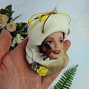 """Брошь-булавка ручной работы. Ярмарка Мастеров - ручная работа Брошь""""Всё дело в шляпке"""". Handmade."""