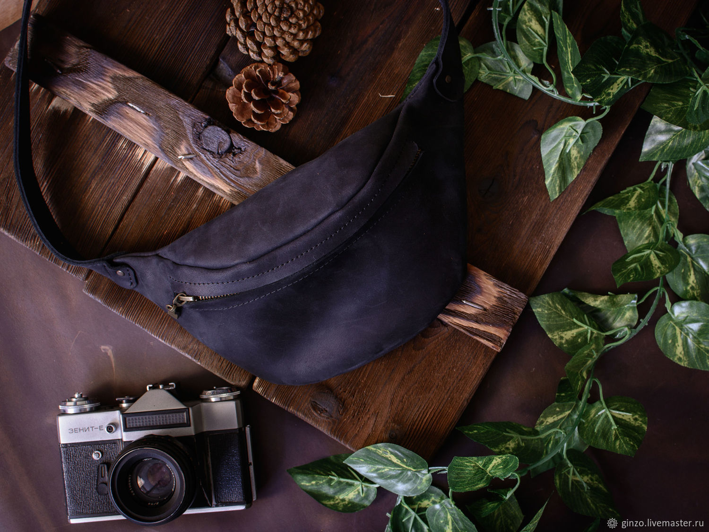 Поясная сумка кожа HILTON цвет Черный, Поясная сумка, Тула,  Фото №1
