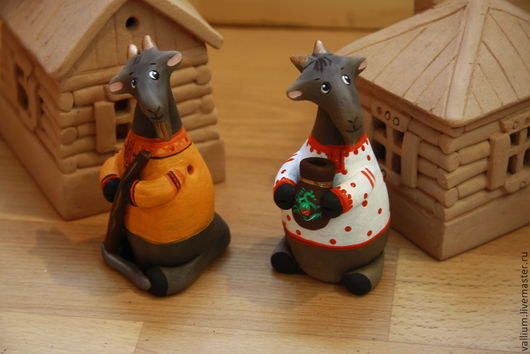 Игрушки животные, ручной работы. Ярмарка Мастеров - ручная работа. Купить Козлики. Handmade. Козлик, подарок, Керамика